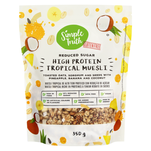 Simple Truth High Protein Tropical Muesli 350g