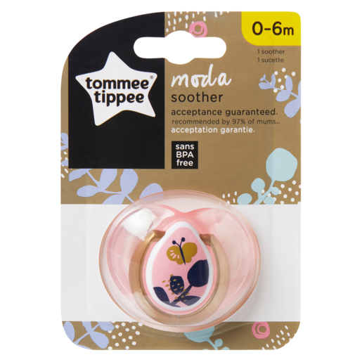 Tommee Tippee Girl Moda Soother 0-6 Months