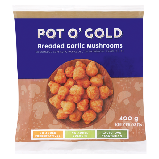 Pot O' Gold Breaded Garlic Mushrooms 400g