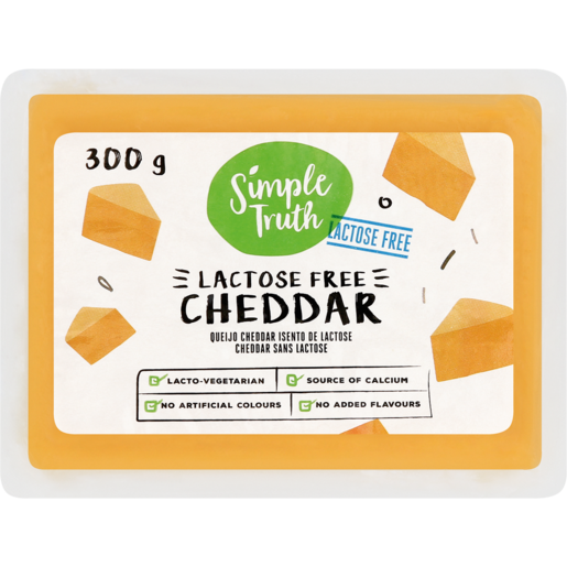 Simple Truth Lactose Free Cheddar Cheese 300g