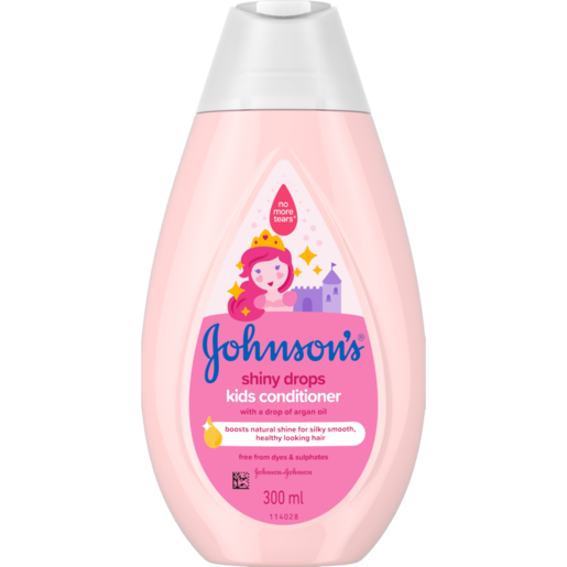 Johnson's Shiny Drops Kids Conditioner With A Drop Of Argan Oil 300ml