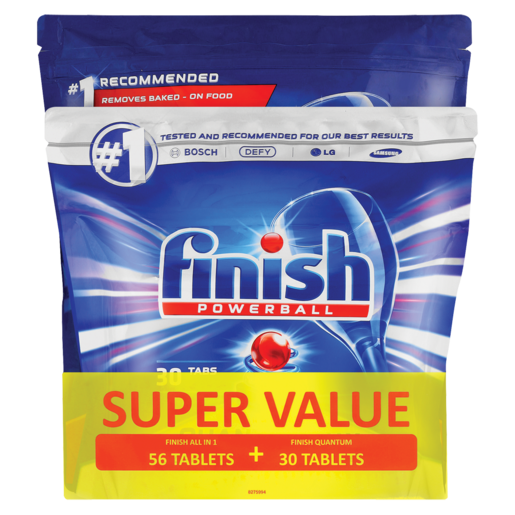 Finish All In 1 Max Dishwasher Tablets 86 Pack Dishwashing Cleaning Household Checkers Za