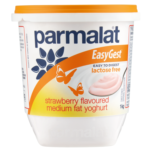 Parmalat EasyGest Lactose Free Strawberry Flavoured Medium Fat Yoghurt 1kg