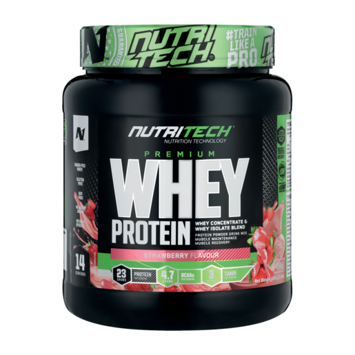 Nutritech Strawberry Flavoured Whey Protein 454g