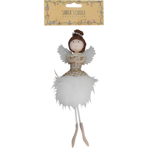 Santa's Choice Assorted Angel With Feathers Tree Decoration