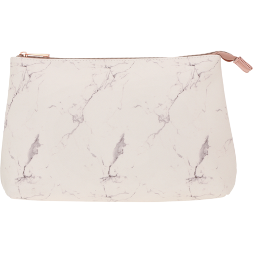 Marble Rose Gold Clutch Toiletry Bag