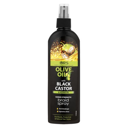 Ors Olive Oil With Black Castor Keratin Braid Spray 250ml Styling Products Hair Care Health Beauty Checkers Za