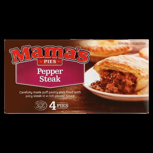 Mama's Pies Frozen Pepper Steak Pies 4 Pack | Frozen Pies ...