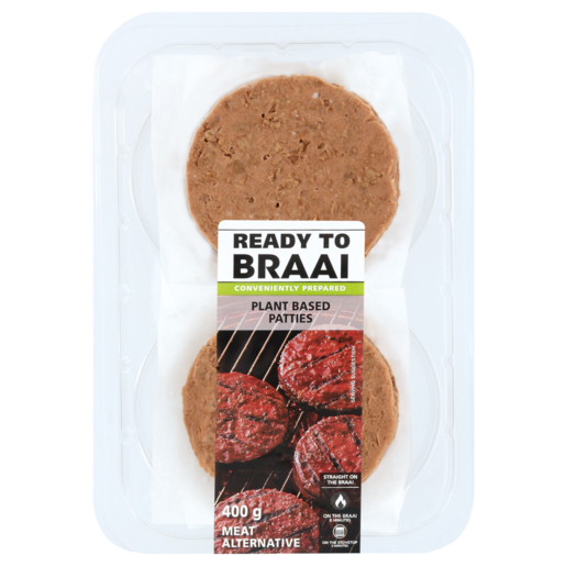 Ready To Braai Plant Based Patties 400g