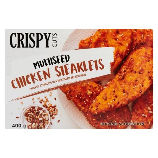 Crispy Cuts Multiseed Chicken Steaklets 400g