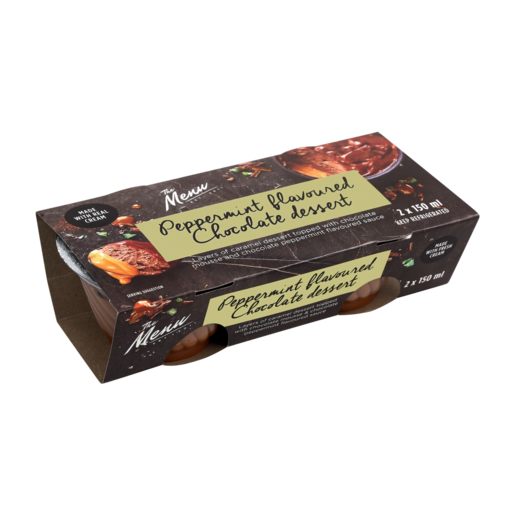 The Menu Peppermint Flavoured Chocolate Dessert 2 x 150ml