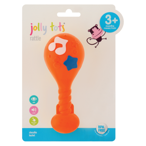 Jolly Tots Musical Drum Rattle 3+ Months