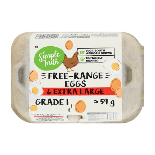 Simple Truth Extra Large Free-Range Eggs 6 Pack