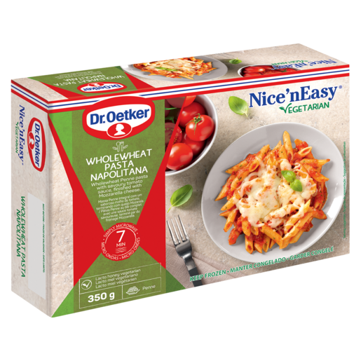 Dr. Oetker Nice 'N Easy Frozen Wholewheat Pasta Napolitana Ready Meal 350g