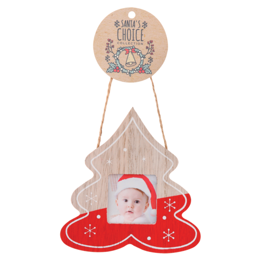 Santa's Choice Wooden Tree Decoration Assorted