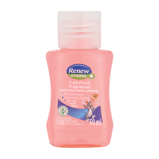 Renew Kids Tutti Frutti Fragranced Waterless Hand Sanitiser 50ml