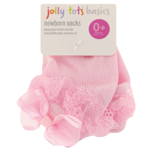 Jolly Tots Basics Newborn Socks 0-6 Months